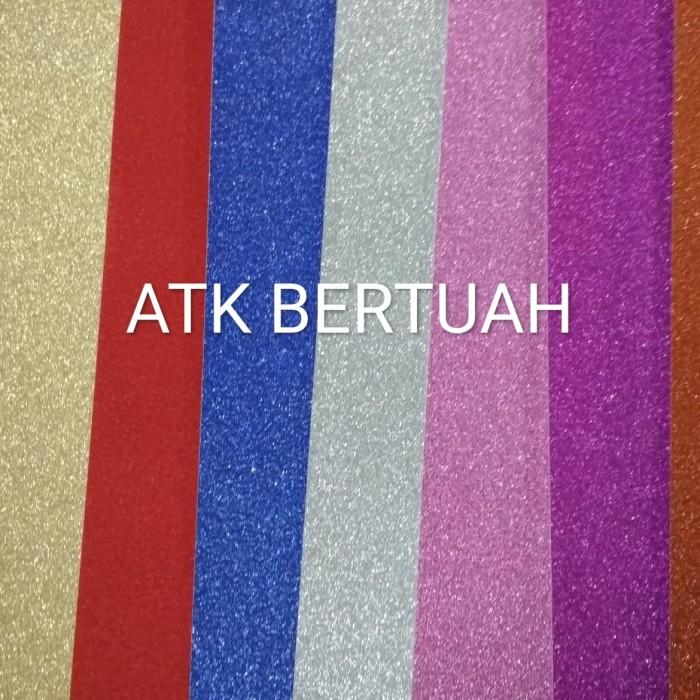 Foto Produk SET KERTAS KARTON GLITTER 10 WARNA dari ATK BERTUAH