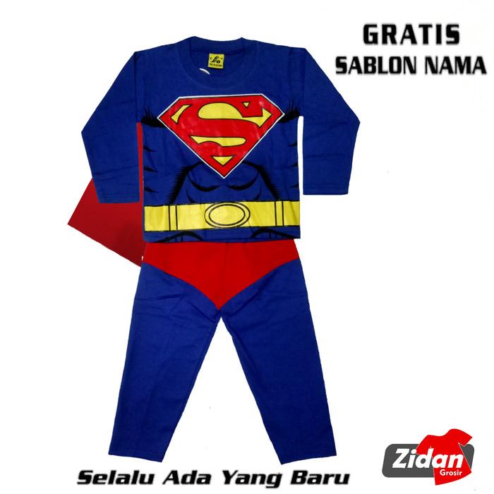 Foto Produk BAJU SETELAN KOSTUM SUPERMAN/KOSTUM SUPERHERO AVENGER GRATIS NAMA dari Zidan Grosir