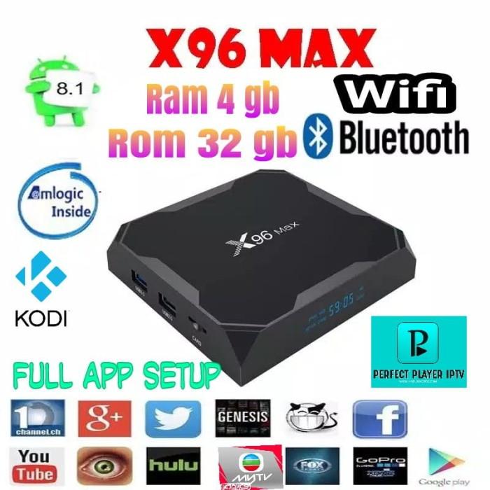 Jual stb android smart tv box terbaru x96 max 4gb int 32gb full app setup -  Kota Surabaya - electronicpedia | Tokopedia