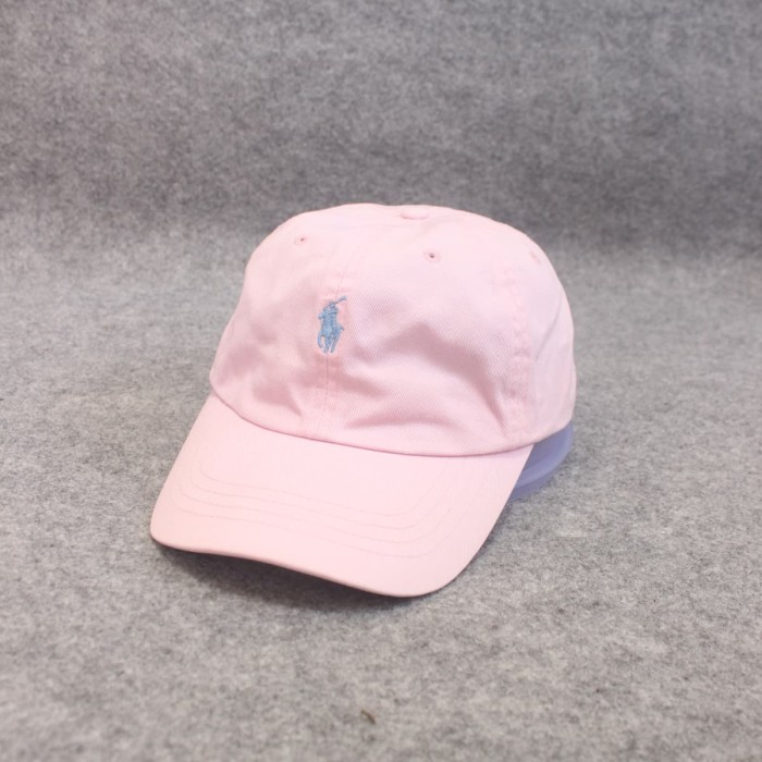 Jual Topi Casual Polo Ralph Lauren Pink Pastel Second Original ... 6bcc4cd4b9