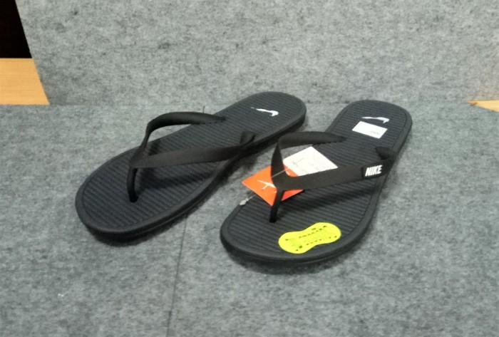 Sandal Jepit NIKE SOLARSOFT THONG 2 (488160-011) BLACK - ORIGINAL - Hitam 3af1502837