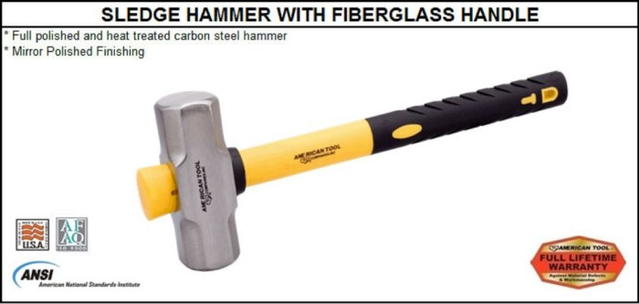 Jual Palu Sledge Hammer With Fiberglass Handle 5 Kg 78 Cm American Tool Mmd Exsotic Mart Tokopedia