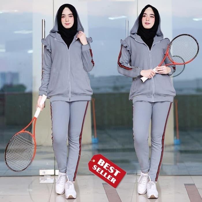 Jual Baju Setelan Jaket Tanisha Casual cocok untuk Jogging ...