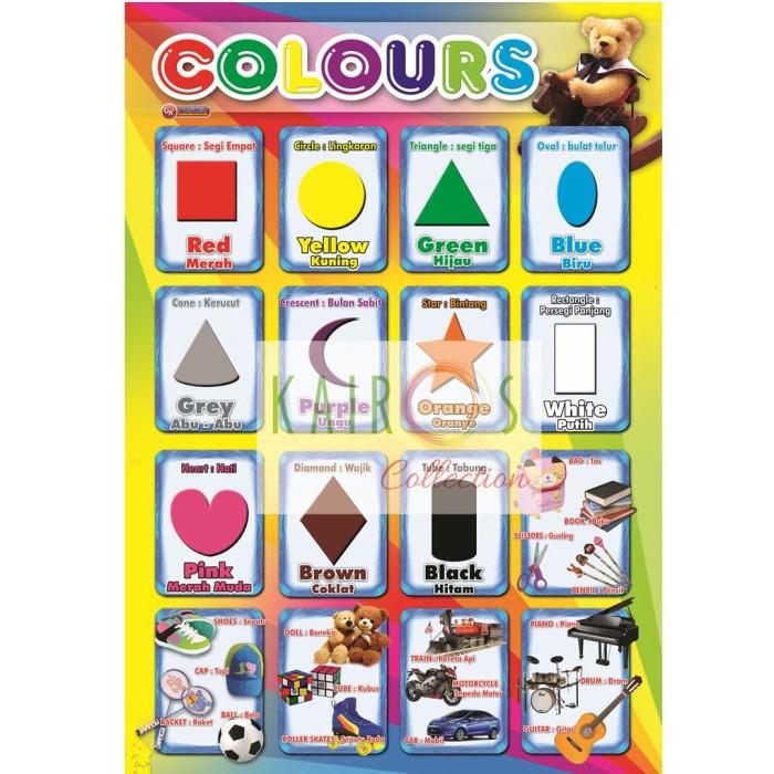 Foto Produk Poster Anak Edukasi - Warna dan Bentuk dari Kairos.Collection