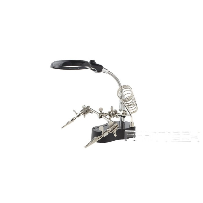PENJEPIT PCB PENJEPIT PCB HOLDER KACA PEMBESAR LAMPU LED T801