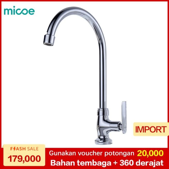 ... Sambungan Kran Penyambung Keran Air Flexibel Silicon Water ZH12 Online. Source · MICOE kran dapur 360 derajat kran cuci piring kran air dingin tunggal