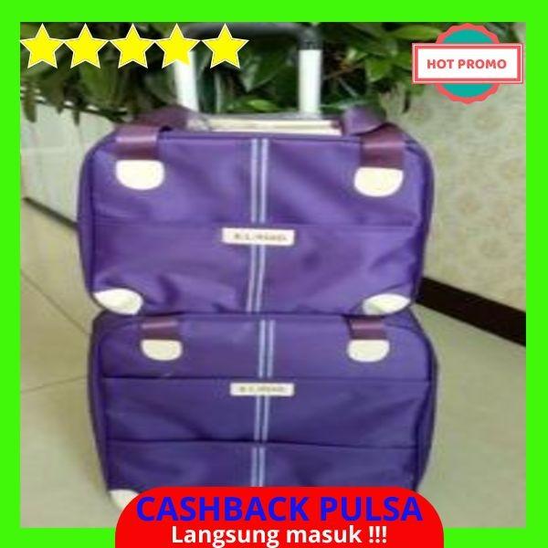 [BEST QUALITY] Wanita tas koper beroda untuk bagasi tas travel troli