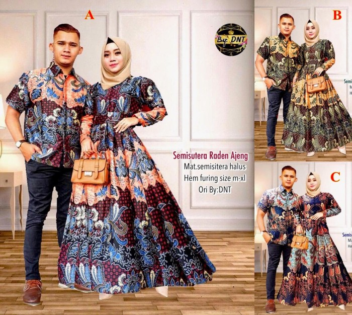 Jual Sarimbit Gamis Semi Sutra Raden Ajeng Baju Batik Murah Kota Surakarta Ruangbatik Tokopedia