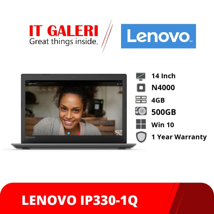 harga Laptop lenovo ideapad 330-1qid Tokopedia.com