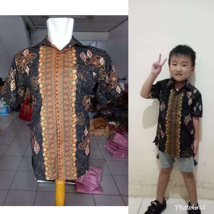 Jual kemeja batik pendek pria dan kemeja batik anak cowok couple ... 72af520619