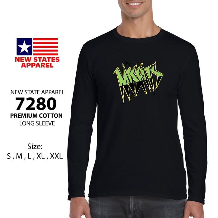 Kaos Lengan Panjang Hitam The Misfits Logo L0339