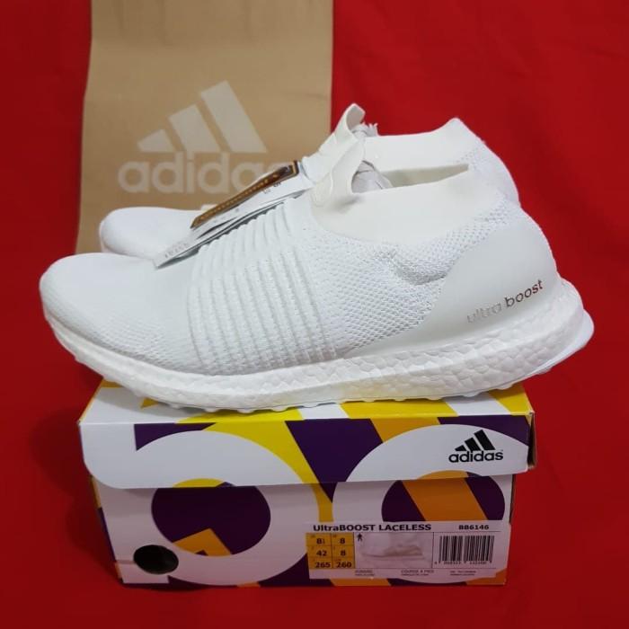 b143dfdbc3c Jual Adidas Ultraboost Laceless Triple White (100% Original) - Vape ...
