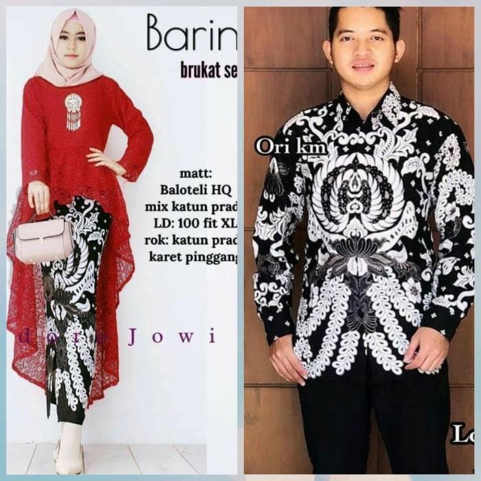 Jual Batik Couple Kebaya Brokat Remaja Batik Sarimbit Pesta Kekinian Zbd34 Batik Perintis Tokopedia