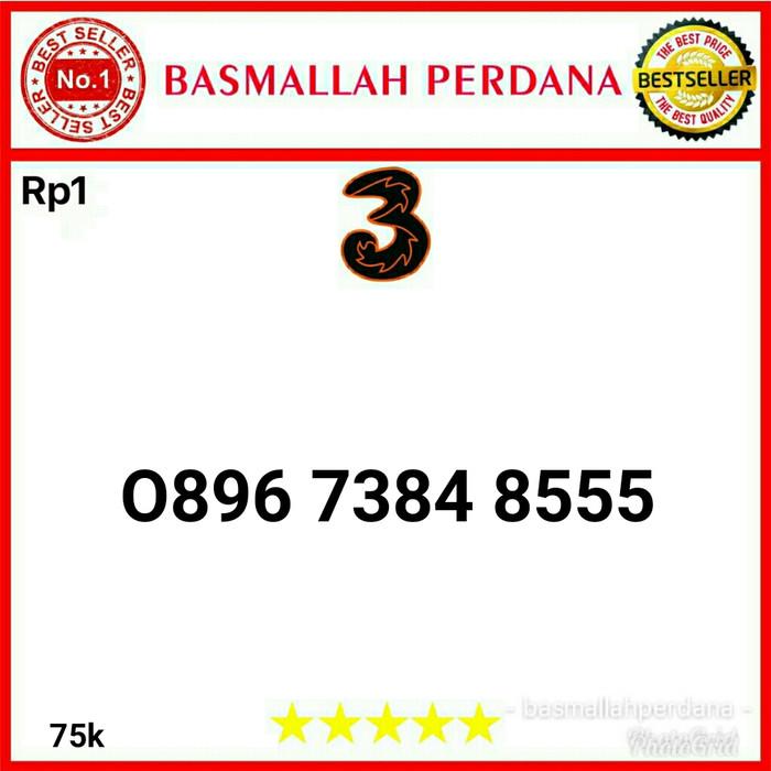 Jual Nomor Cantik Three Seri Triple 555 0896 7384 8555 Rp1 - Dki Jakarta - Basmallah Cell 2 | Tokopedia