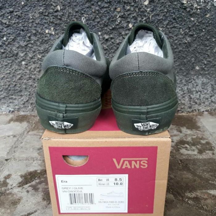 NEW!!! sepatu VANS ERA GREY OLIVE Premium wafle DT china Pria - Abu-abu 7f1deb19bd
