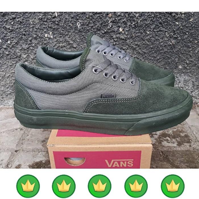 Jual NEW!!! sepatu VANS ERA GREY OLIVE Premium wafle DT china Pria ... 0f36ab7d9f