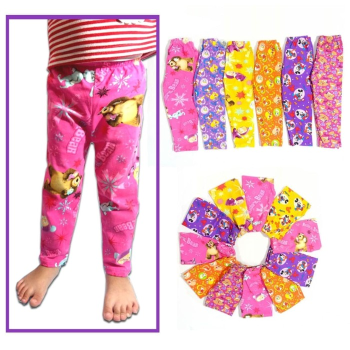 Jual Celana Legging Anak Murah Katun Motif Kartun 4 5 Tahun Kota Depok Baju Anak Hana Tokopedia