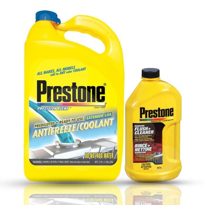 Prestone [bundle] ready to use blue + flush cleaner