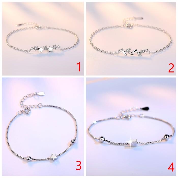 Jual Gelang Emas Putih Silver S925 Import Korea Simple Pesta Blink As810 Dua Kota Surabaya Aksesorisimpor Com Tokopedia