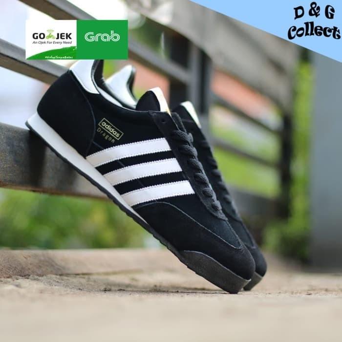 Sepatu adidas dragon black white original sneakers keren running 7cd1de8eee