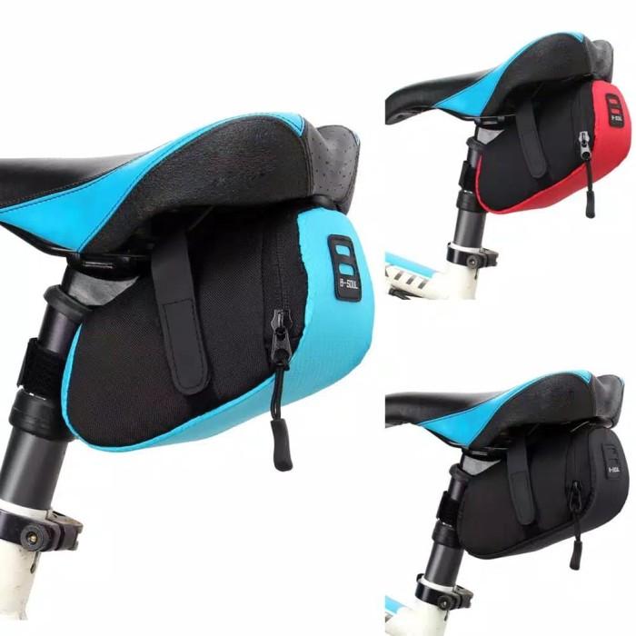 Foto Produk Tas Sepeda B-Soul / Bicycle Saddle Bag / Tas sadel Sepeda B-Soul - Biru dari Uppala Shop