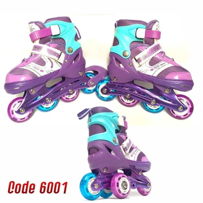 Sepatu Roda Anak Inline Skate Kids Ban Karet LED PVC Power Aosite 6001 c06e80cd53