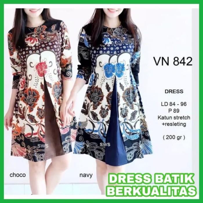 Review Dress Batik Wanita Terbaru Dress Kerja Batik Baju Kerja Batik