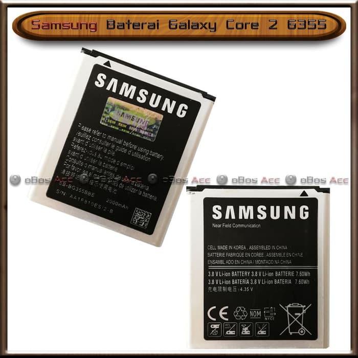 Baterai Samsung Galaxy Core 2 G355 G355H Original Batre Batrai HP