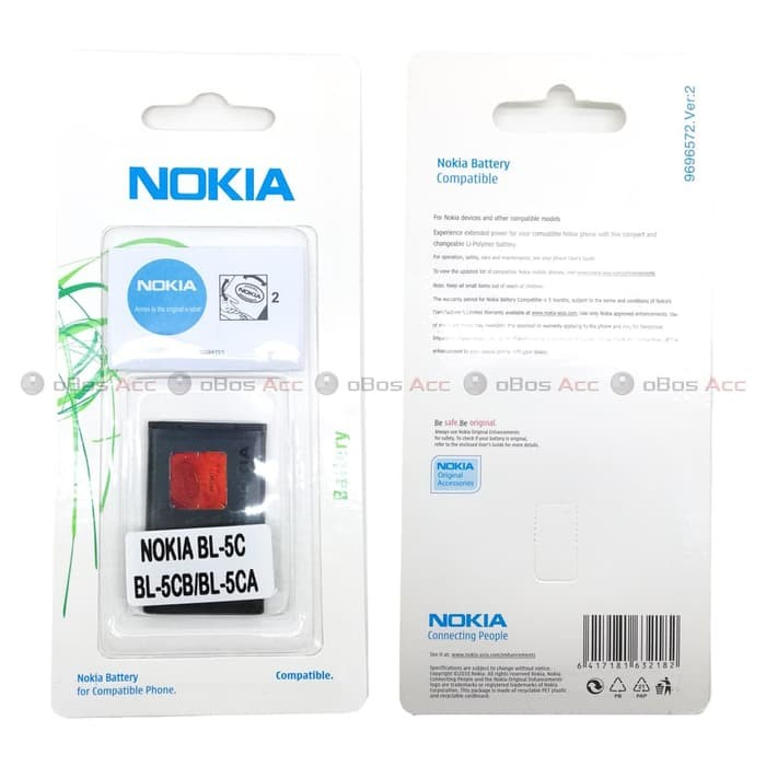 Baterai Nokia C2-01 C2-02 C2-03 C2-06 BL5CB BL