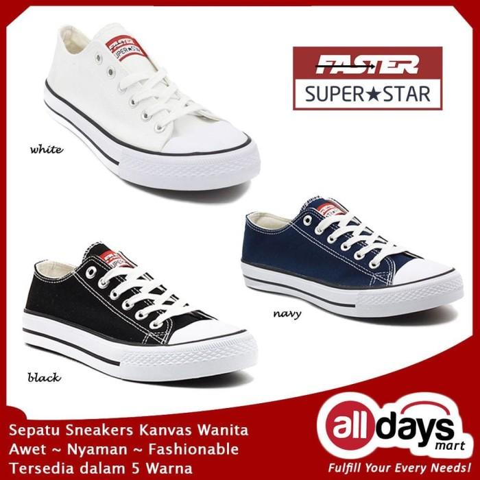 Faster Sepatu Sneakers Kanvas Wanita 1603-03 Size 36-40