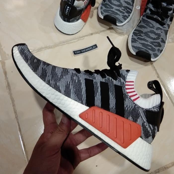 e3eb095dc Jual Sepatu Adidas NMD R2 Primeknit Tiger Camo Black Red Premium ...