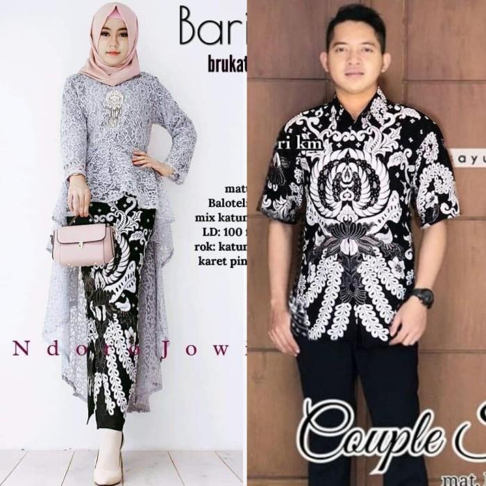 Jual Baju Batik Couple Kebaya Kondangan Batik Brokat Remaja Terbaru Saz27 Kota Pekalongan Inibatikku Tokopedia