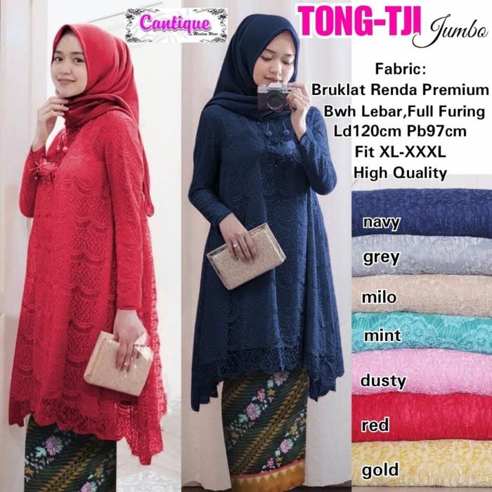Jual Tunik Brokat Ld 120 Cm Blouse Big Size Atasan Kebaya Hijab Muslim Jakarta Utara Lapak75 Tokopedia