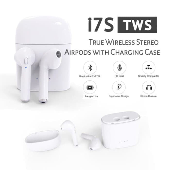 harga Airpod android headset bluetooth i7s tws i7+ wireless i7plus handsfree Tokopedia.com