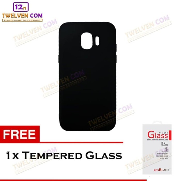 TERMURAH Case Samsung J2 Core New 2in1 Case - Tempered Glass Softcase
