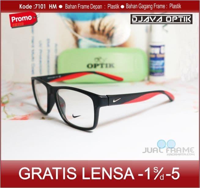 Jual Murah Kacamata Nike + Lensa Minus Baca Frame Pria Cewek Kotak ... 90ea3e10a0