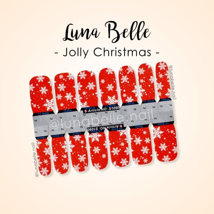 Jual Nail Sticker Sticker Kuku Jolly Christmas Jakarta Utara Luna Belle Tokopedia