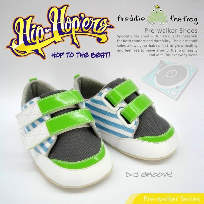 harga Sepatu bayi - prewalker | freddie the frog | dj groovy - 6-9 bulan Tokopedia.com