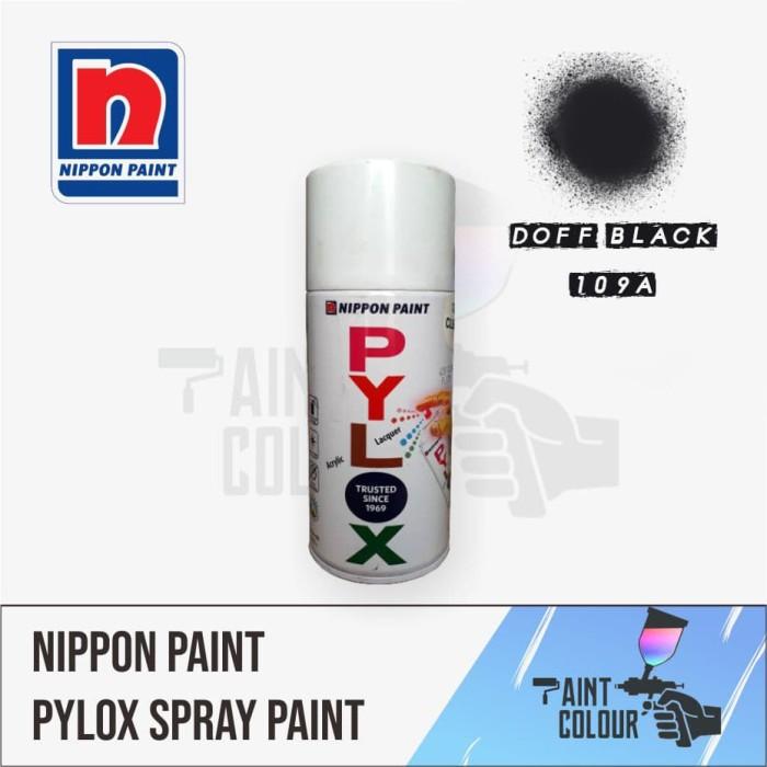 Pylox 109A Black Flat/Doff/Matt Cat Semprot/Pylox/Samurai Motor/