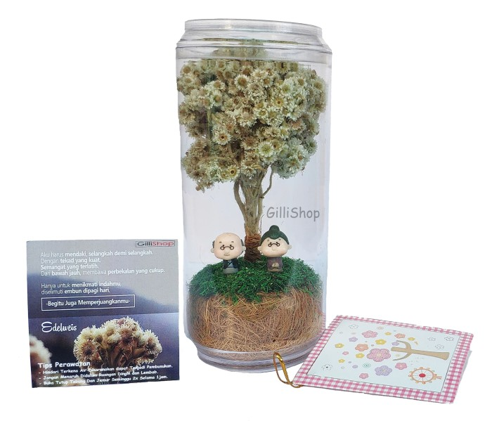 harga New bunga edelweis/bunga abadi/kado unik Tokopedia.com