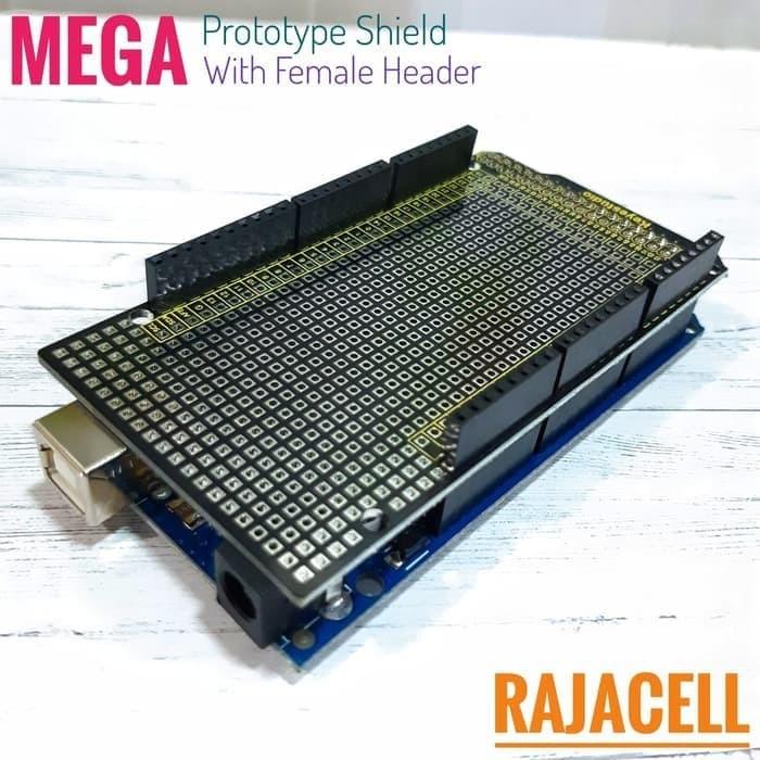 Foto Produk Mega2560 PCB Prototype Shield Dual Layer Protoshield FEMALE Header dari RAJADUINO