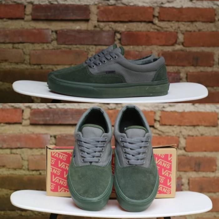94c75bf6030 Jual Sepatu Vans Era Military Mono Winter Moss Grey Olive Green BNIB ...