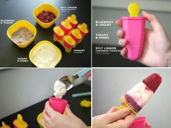 IKEA CHOSIGT Cetakan es loli, pink-kuning / biru-hijau