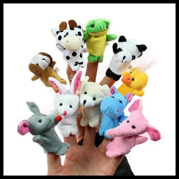 Jual GRATIS ONGKIR Boneka Jari Tangan hewan   finger puppet animal ... 301f49ad67