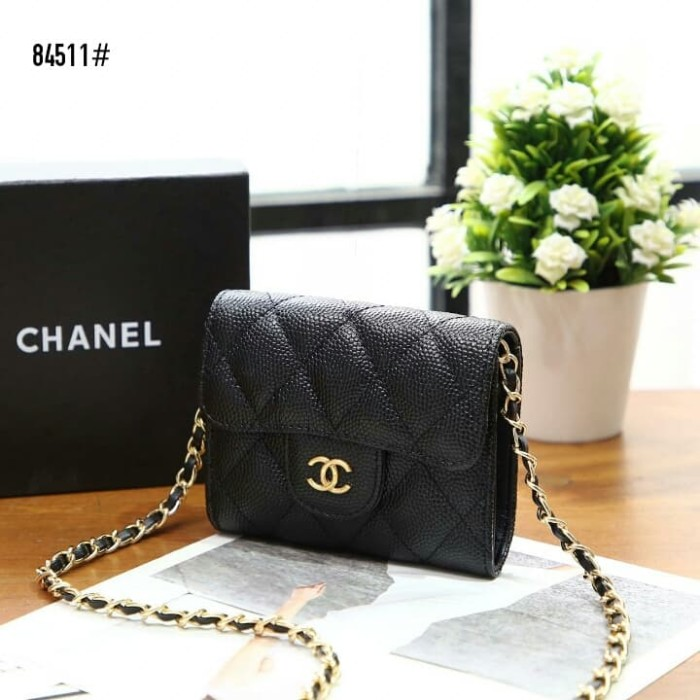 0bd606974552 Jual Chanel Caviar Classic Coin Purse on Chain👛 #84511 - Hitam ...