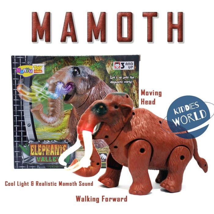 Foto Produk MAINAN ELEPHANT VALLEY MAMOTH WALKING, SOUND, MOVING MAMOTH TERMURAH dari Kiddies World