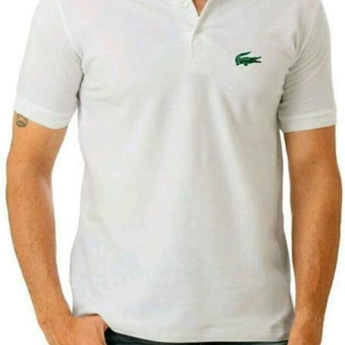 Jual Polo shirt Kaos Tshirt Baju Kerah Lacoste Putih - Sifa Clothes ... c85462f930