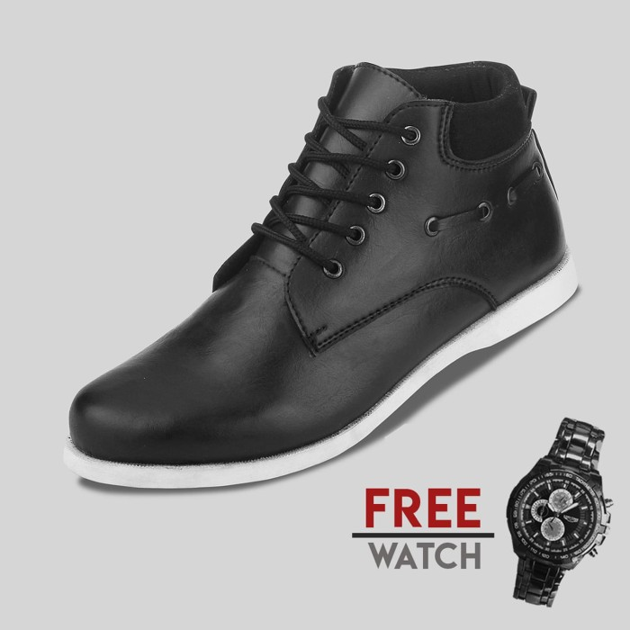 Sepatu casual pria s. van decka j-ty03 free jam tangan sport - hitam 42