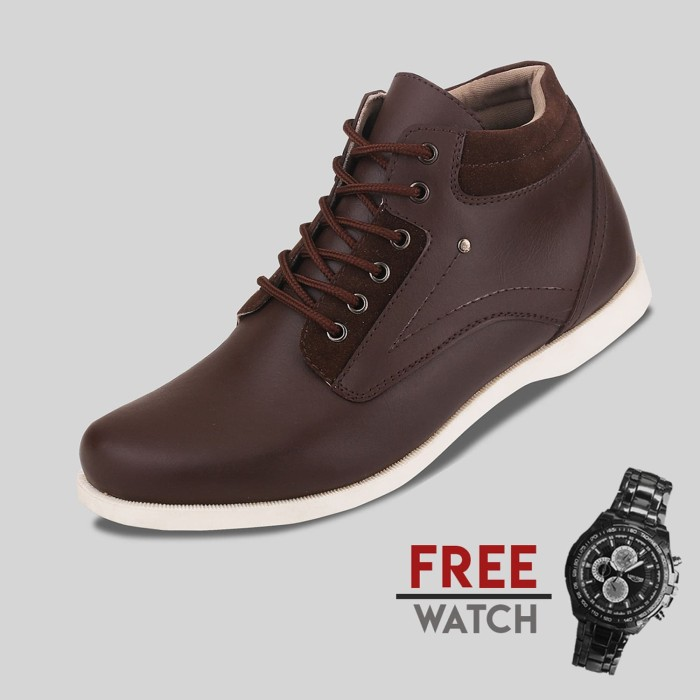 harga Sepatu casual pria s.van decka j-ty01k free jam tangan sport - cokelat 40 Tokopedia.com