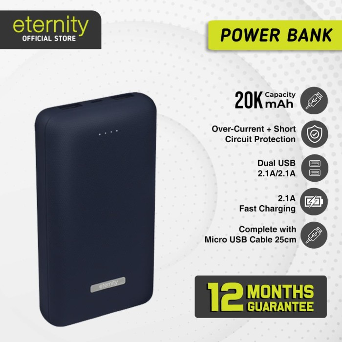 harga Eternity - eternity nrgy x / powerbank / 20.000 mah / fast charging Tokopedia.com